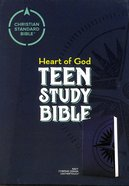 CSB Heart of God Teen Study Bible Navy Compass Design Imitation Leather