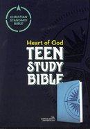 CSB Heart of God Teen Study Bible Teal Compass Design