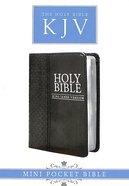 KJV Mini Pocket Edition Black (Black Letter Edition) Imitation Leather
