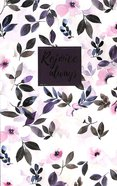 Journal: Rejoice Always, Pink Flowers Flexi Back