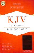 KJV Giant Print Reference Indexed Bible Saddle Brown Premium Imitation Leather