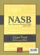 NASB Giant Print Reference Bible Black Genuine Leather