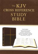 KJV Cross Reference Study Bible Compact Mahogany Cross (Red Letter Edition) Paperback