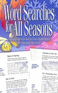 Word Searches For All Seasons Paperback