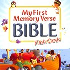 My First Memory Verse Bible Flash Cards (24 Cards In The Box) Cards