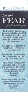 Do Not Fear, For I Am With You , Various Scriptures (10 Pack) (Bible Basics Bookmark Series)
