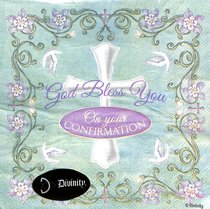 Napkins: God Bless You on Your Confirmations, Pale Green/Purple