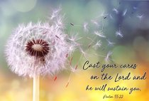 Poster Small: Cast Your Cares...