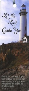 Tassel Bookmark: Let the Lord Guide You, Lighthouse on Hill