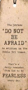 Tassel Bookmark: Do Not Be Afraid is Written in the Bible 365 Times