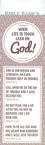 When Life is Tough, Lean on God! , Cream/Beige Pattern (10 Pack) (Bible Basics Bookmark Series)