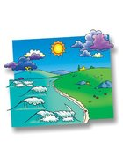 Meadow Flannelboard & Ocean Overlay (Beginner's Bible In Felt Series) Flannelgraph