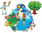 Creation/Adam and Eve (Beginners Bible In Felt Series) Flannelgraph