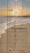 Panel Wall Art: Footprints Plaque