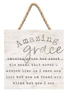 String Sign: Amazing Grace..., Pine Plaque