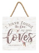 String Sign: I Have Found the One My Soul Loves Pine, Flowers (Song Of Solomon 3:4) Plaque