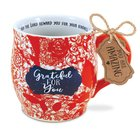 Ceramic Mug Pretty Prints: Grateful For You, Philippians 1:3 Homeware