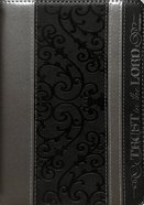 Journal Divine Details: Trust in the Lord, Black/Silver, Zippered Closure Imitation Leather