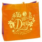 Tote Bag: It's a New Day, Orange/Yellow Soft Goods