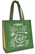 Tote Bag: There is No Fear in Love, Turquoise/Yellow Soft Goods