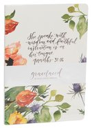 Gracelaced Journal Set of 2: White/Floral (Proverbs 31:25-26)
