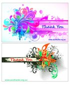 National Day of Thanks Mini Thank You Cards Abstract (30 Cards 2 Designs)
