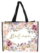 Non-Woven Tote Bag: Believe, Floral Soft Goods