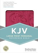 KJV Large Print Personal Reference Bible Pink Imitation Leather