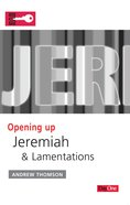 Jeremiah & Lamenations (Opening Up Series) Paperback