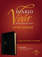 Rvr60 Biblia De Estudio Del Diario Vivir Letra Grande Negro/Onice Indice (Red Letter Edition) (Large Print Study Bible With Index) Imitation Leather