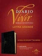 Rvr60 Biblia De Estudio Del Diario Vivir Letra Grande Negro/Onice Indice (Red Letter Edition) (Large Print Study Bible With Index) Imitation Leather