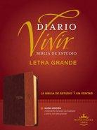 Rvr60 Biblia De Estudio Del Diario Vivir Letra Grande Cafe/Cafe Claro (Red Letter Edition) (Large Print Study Bible) Imitation Leather