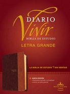 Rvr60 Biblia De Estudio Del Diario Vivir Letra Grande Cafe/Cafe Claro Indice (Red Letter Edition) (Large Print Study Bible With Index) Imitation Leather