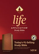 NIV Life Application Study Bible 3rd Edition Brown/Mahogany Indexed (Black Letter Edition) Imitation Leather