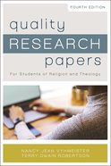 Quality Research Papers eBook
