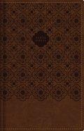 Rvr60 Santa Biblia Letra Grande Tamano Compacto Cafe Con Indice Y Cierre (Red Letter Edition) Premium Imitation Leather