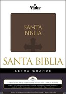 Biblia Letra Grande Brown Large Print (Red Letter Edition) (Spanish) Premium Imitation Leather