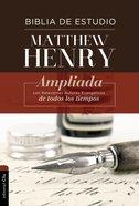 Rvr Biblia De Estudio Matthew Henry Con Indice Hardback