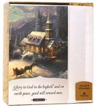 Christmas Boxed Cards: Thomas Kinkade Glory to God (Luke 2:14 Kjv) Box