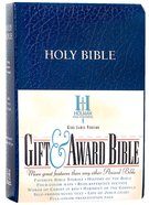 KJV Gift Award Bible Blue Imitation Leather