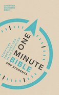CSB One-Minute Bible For Students Paperback