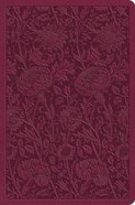 ESV Value Compact Bible Raspberry Floral Design Imitation Leather