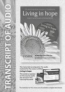 Living in Hope (Transcript) (York Courses Series) Booklet