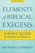 Elements of Biblical Exegesis eBook
