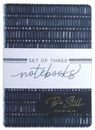Notebook: Be Still, Strong, Joyful, Blue Patterns (Set Of 3) Paperback