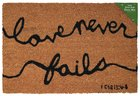 Door Mat: Love Never Fails (1 Corinthians 13:4-8) Homeware