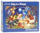 Christmas Jigsaw Puzzle Baby in a Manger, 100 Pieces General Gift