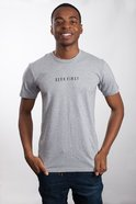 Mens Staple Tee: Seek First, Large, Grey Marle With Black Print (Abide T-shirt Apparel Series) Soft Goods