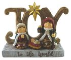 Resin Wood Look Ornament: Joy to the World Homeware