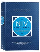 NIV Study Bible (Red Letter Edition) Fully Revised Edition (2020) Hardback